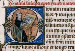 Vincent de Beauvais, Speculum historiale, Médiathèque du Grand Troyes, ms. 464, f. 13.